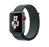 Apple Watch Series 3 Aluminiumgehäuse grau 42mm mit Nike+ Sport Loop midnight black (GPS + Cellular) Smartwatches verkaufen